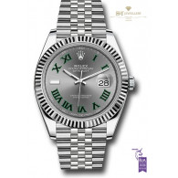 Rolex Date Just 41 Steel and White Gold - ref 126334