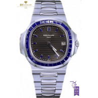 Patek Philippe Platinum Nautilus Design set with Sapphires  - ref 5711/111P-001