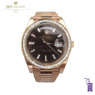 Rolex Day Date Rose Gold with After market diamonds - ref 228235