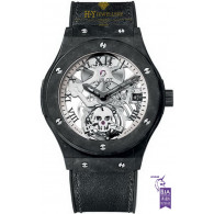 Hublot Classic Fusion Tourbillon Skull Dial Skeleton Black Ceramic [ Limited edition of 50 ]  - ref 505.UC.0170.VR.SKULL