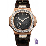 Patek Philippe Nautilus Moon Face Rose Gold with Aftermarket diamonds- ref 5712/R-001