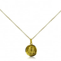 Yellow Gold Virgin Mary Pendant