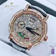 Graff Grand Date Rose Gold with After market diamonds