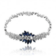 White Gold Sapphire And Diamond Bracelet