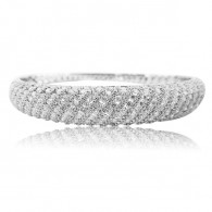 White gold and White diamond Bangle