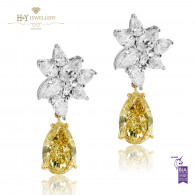 Pear Cut Diamond Earrings - 7.55 ct