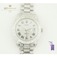 Rolex Date Just 41 Steel with After Set Diamonds - ref 116334