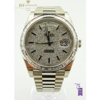 Rolex Day-Date White gold with After market Diamonds - ref 228239