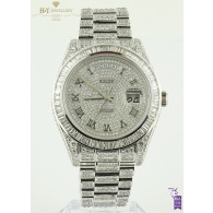 Rolex Day Date II White Gold with After market diamonds - ref 218239