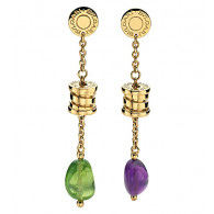 Classic Bvlgari Semi Precious Cabochon Earrings