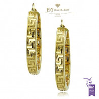 Yellow Gold VERSACE Design Earrings