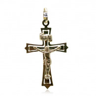 Yellow Gold Detailed Cross Pendant