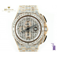 Audemars Piguet Royal Oak Offshore Chronograph Rose Gold DESIGN set with after market diamonds - ref 26400RO