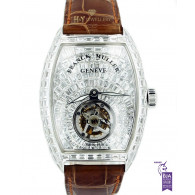 Franck Muller Master Imperial Tourbillon White Gold with After market diamonds - ref 7851