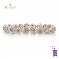 Fancy Pink Diamond Bracelet - 5.44 ct