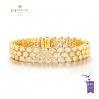 Pear Cut Fancy Yellow Diamond Bracelet - 20.43ct -