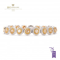 Oval Cut Fancy Yellow Diamond Bracelet - 7.00ct - VS