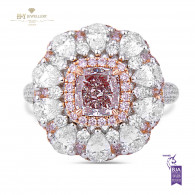 White Gold Fancy Pink Ring - 4.22 ct