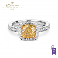 Yellow Diamond Ring - 1.78 ct