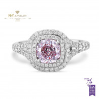 Pink Diamond Ring - 1.51 ct