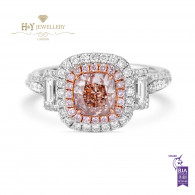 Cushion Cut Fancy Pink Diamond Ring - 2.03 ct