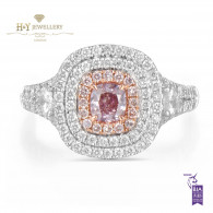 Pink Diamond Ring - 1.14 ct