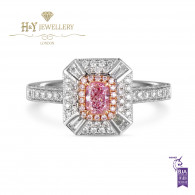Cushion Cut Fancy Pink Diamond Ring - 0.85 ct