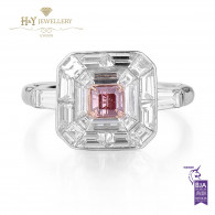 Fancy Intense Pink Diamond Ring - 2.13 ct