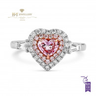 Pink Diamond Heart Ring - 0.90 ct
