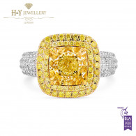 Fancy Yellow Ring - 4.55 ct