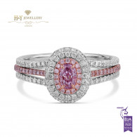 Pink Diamond Ring - 0.95 ct