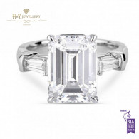 Emerald Cut Diamond Ring - 3.50 ct
