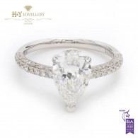 White Gold Pear Cut Diamond Ring - 2.45 ct