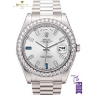 Rolex Day Date II 41 White Gold with Factory Diamonds - Ref 218349