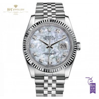 Rolex Date Just Ladies Steel and White gold with Mother of Pearl dial - ref 116234