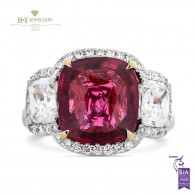 Vivid Red Ruby Ring - 6.93 ct