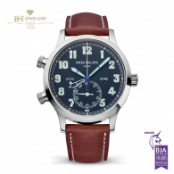 Patek Philippe Complications Calatrava Pilot Time White Gold - ref 5524G-001