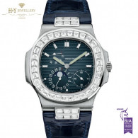 Patek Philippe Nautilus Moon Face White Gold with After set diamonds- ref 5712/G-001
