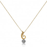 Rose Gold Spiral Necklace With Brilliant Cut Diamonds