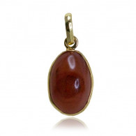 Yellow Gold Pendant With Cabochon Agate