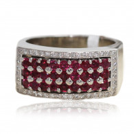 Diamond and Ruby Cocktail Ring