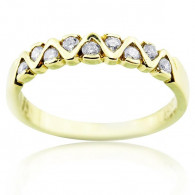 Yellow Gold Petit Ring With Brilliant Cut Diamonds