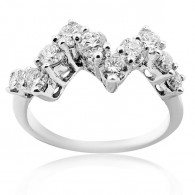 White Gold Petit ZigZag Ring With Brilliant Cut Diamonds