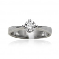 White Gold Four Claw Solitaire Diamond Engagment Ring