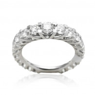 Full Eternity Ring With Floating Brilliant Cut Diamonds