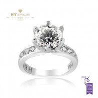 White Gold Solitaire Engagement Ring H , VVS2