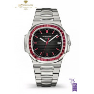 Patek Philippe Platinum Nautilus Design set with Rubies  - ref 5711/112P-001