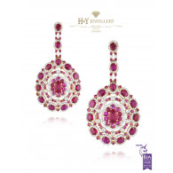 Ruby Statement Earrings - 23.43 ct