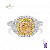 White gold Yellow Diamond Ring - 2.70 ct