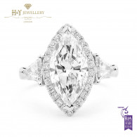 Marquise Cut Diamond Ring - 3.73 ct